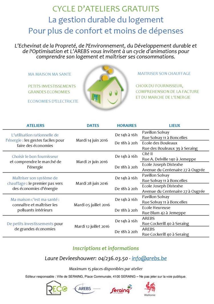 cycle ateliers logement durable pour site