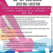 Appel à candidatures – Elections du Conseil Communal de la Jeunesse 2016-2018