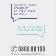 Campagne de lutte contre les violences sexuelles – 0800 98 100