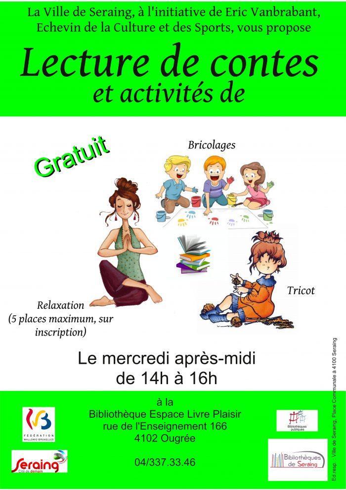 activités du mercredi apres midi enfants histoire