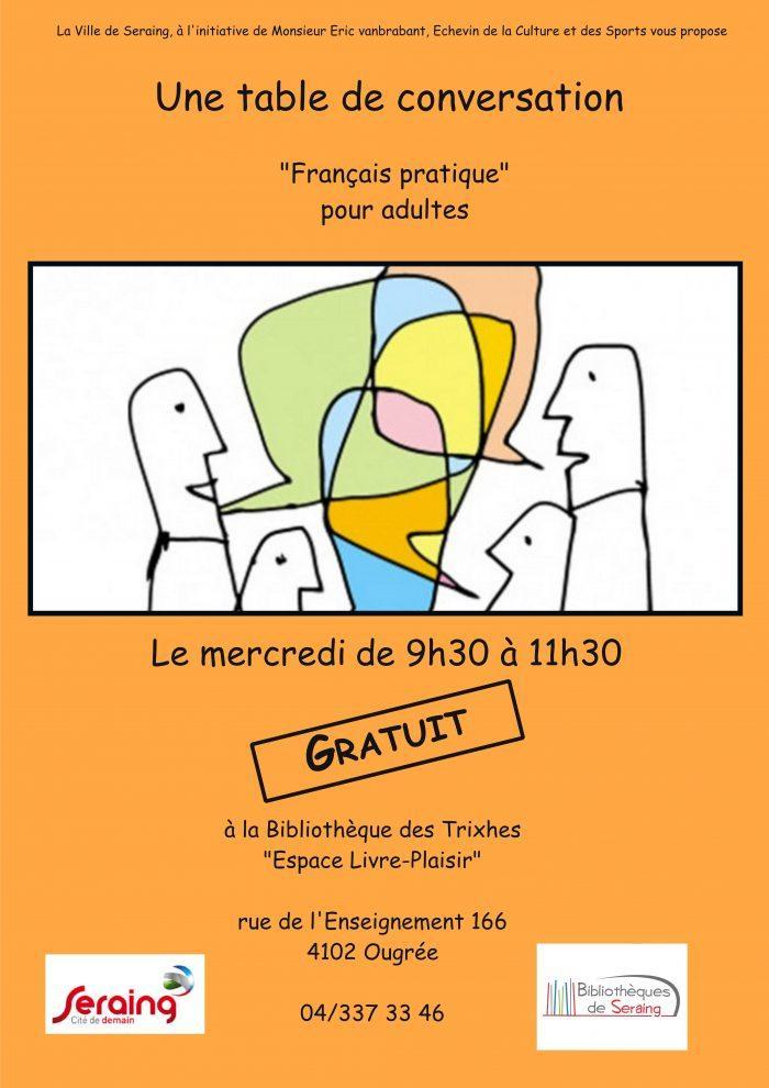 tables de conversation seraing apprendre le français