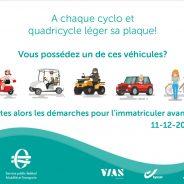 A chaque cyclomoteur et quadricycle léger sa plaque!