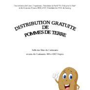 Distribution gratuite de pommes de terre