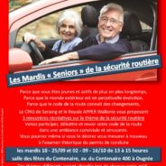 Les mardis «Seniors» de la sécurité routière