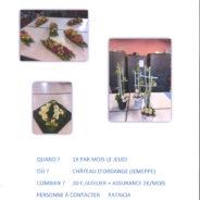 Des ateliers d'art floral organisés au château d'Ordange !