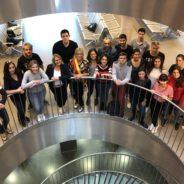 L'Echevine de l'Etat Civil reçoit des étudiants en Erasmus en compagnie de la Députée