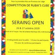 Seraing organise la 1ere compétition de Rubik's cube de la province de Liège
