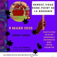 Une manifestation au rond-point de la Bergerie pour la Journée des Droits des Femmes