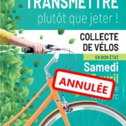 Annulation des collectes de vélos et de livres des 25 avril et 20 juin prochains