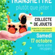 Intradel organise une collecte de jouets dans ses recyparcs le 17 octobre