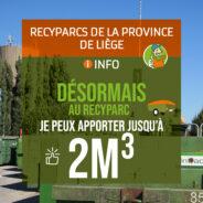 Changement dans vos recyparcs Intradel: apportez désormais jusqu'à 2m3 !