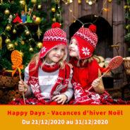 Les journées Happy Days reviennent pour les congés de Noël/d'Hiver