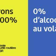 «Vivons à 100%/0% d'alcool au volant», la nouvelle campagne de l'AWSR