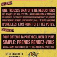 La Party Box: une trousse de réduction des risques liés à la fête et à la consommation de produits psychotropes