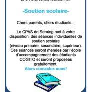 Besoin de soutien scolaire? Le CPAS proposes des séances d'aide gratuites
