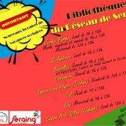 Un horaire d'été pour les bibliothèques de Seraing