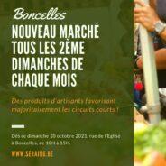 Le marché de Boncelles inauguré le 10 octobre 2021