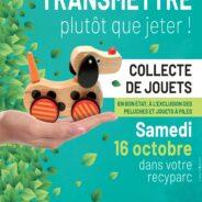 Intradel organise une collecte de jouets dans ses recyparcs le 16 octobre